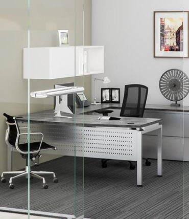 Modern Laminate Industrial Desk