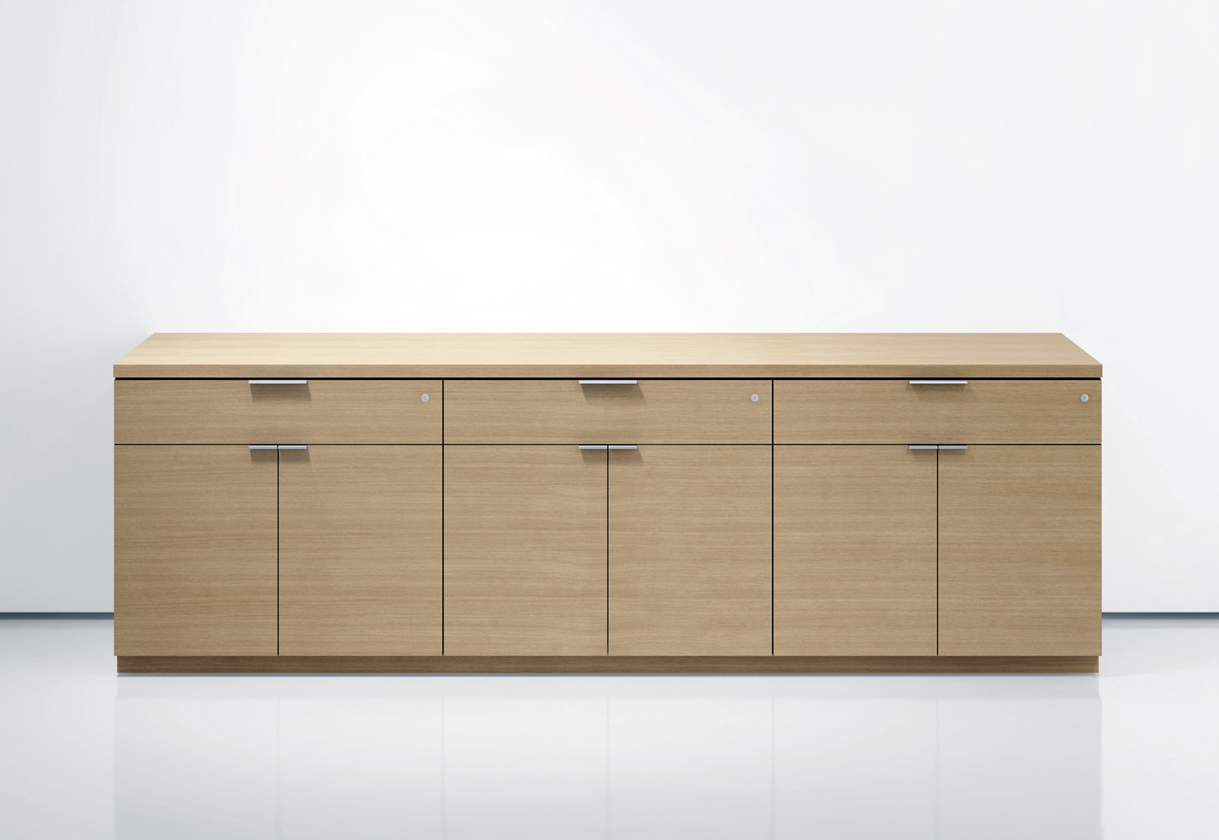 Contemporary Wood Buffet Credenza