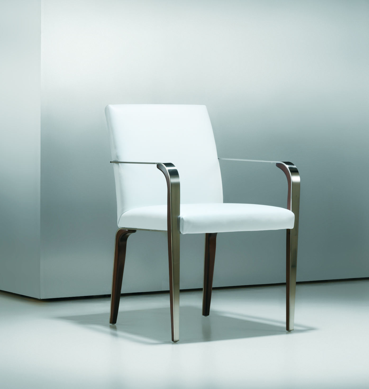 Fine modern metal wood side chair ambience dor for Modern metal chairs