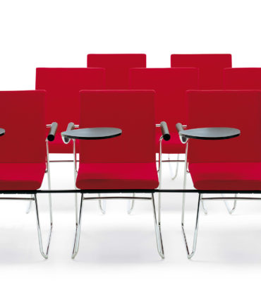premium red tablet lecture hall chairs