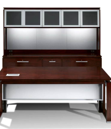 Modern Executive Wood Sit to Stand Desk