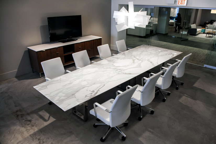 Contemporary Stone Conference Table Ambience Dor 233