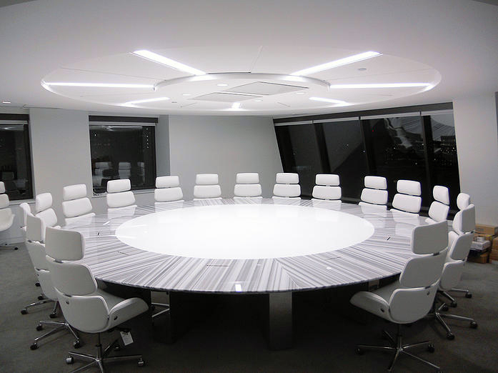 Modern Conference Table Ambience Doré - Corian conference table