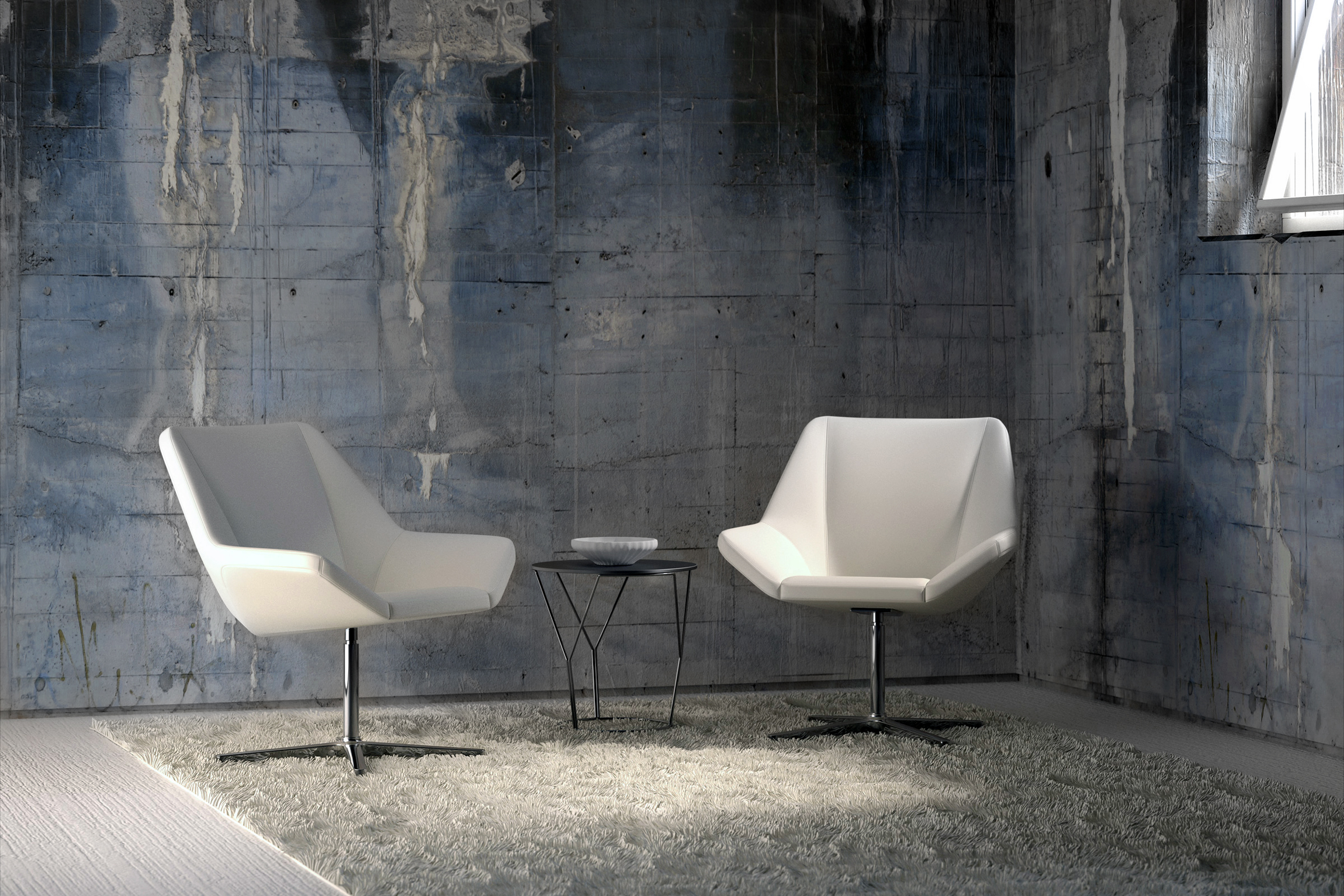cool angular lounge chairs ambience doré