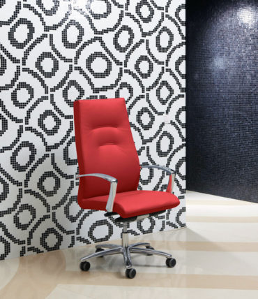 Luxury Red Leather Executive Chair