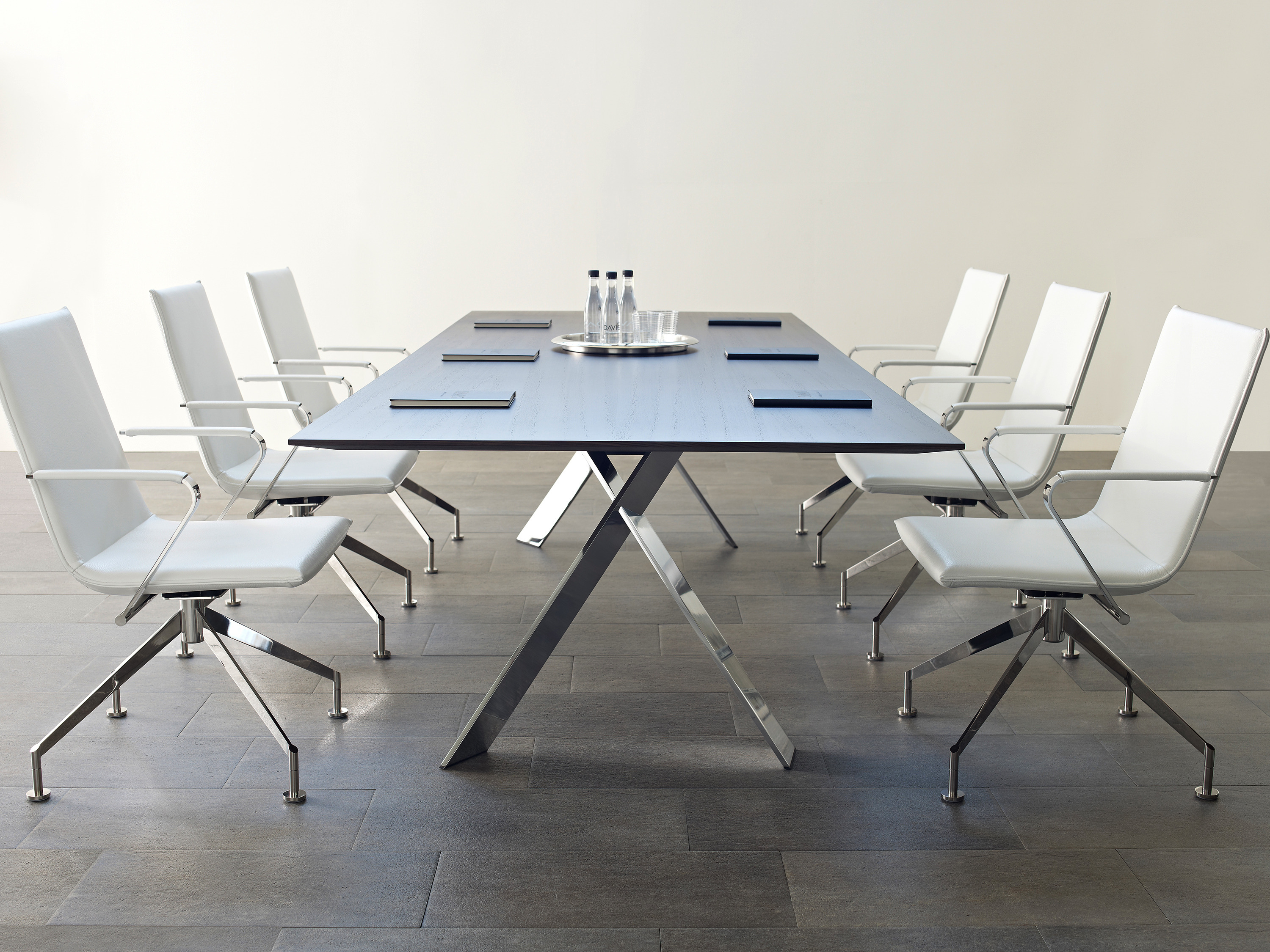 Contemporary_wood_Chrome_Table