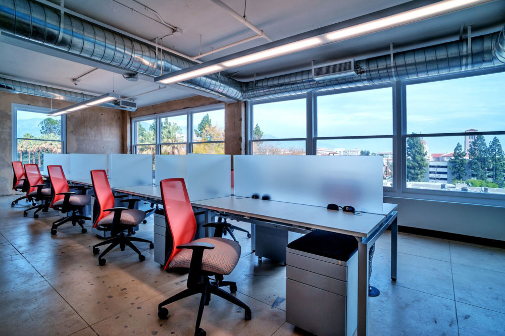Modern Industrial Open Plan Office Desks