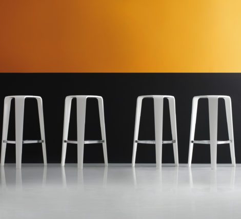 White Modern Tall Bar Stool