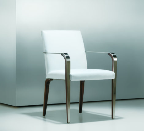 Fine Modern Metal Wood Side Chair