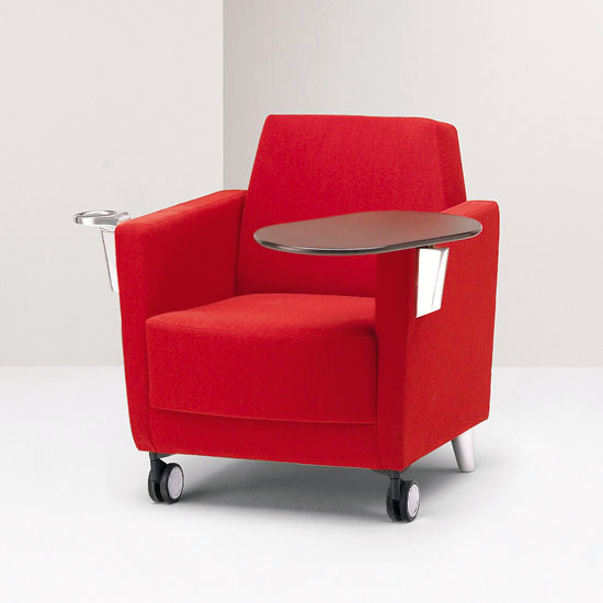 premium modern red tablet arm chairs