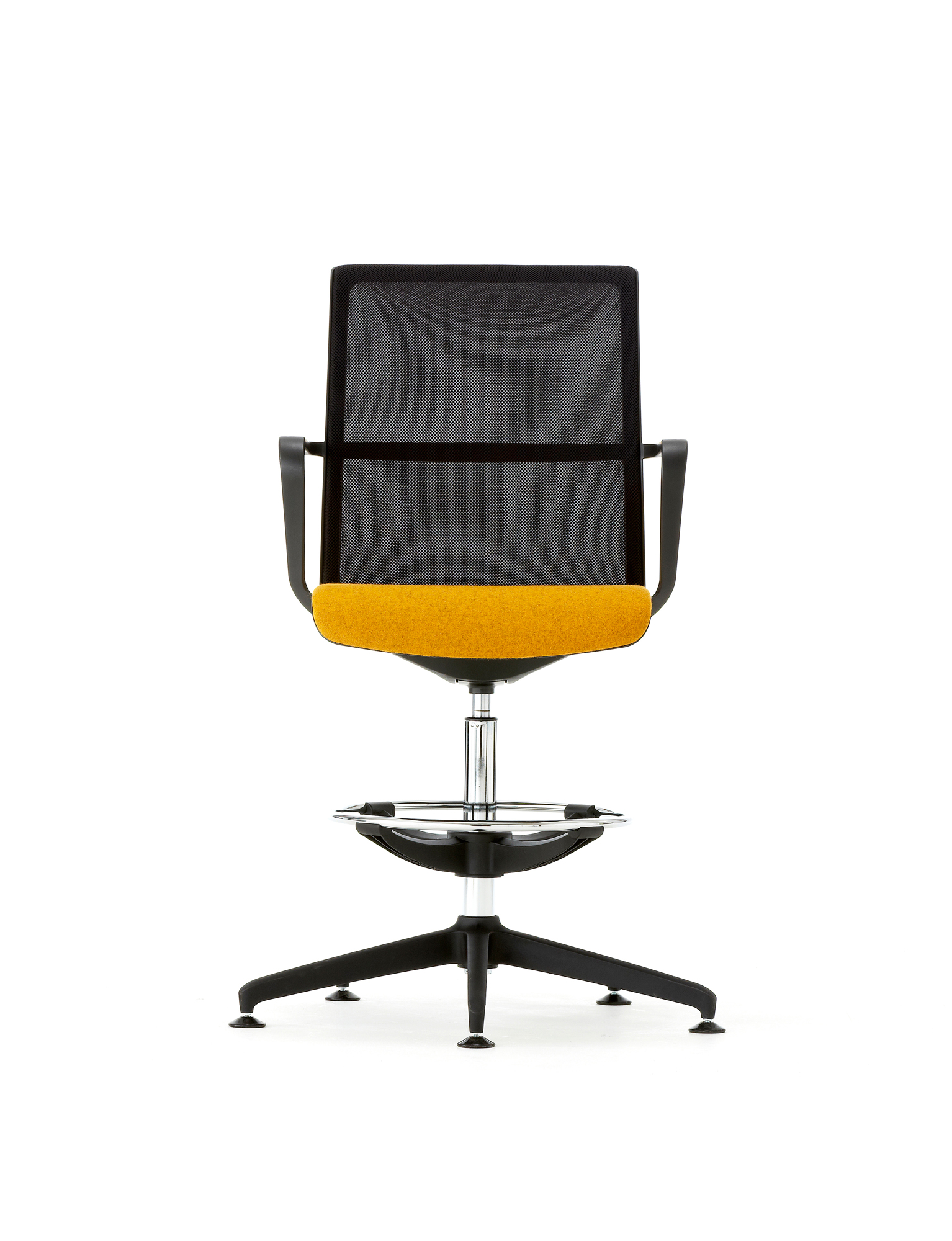 Cool_Black_Mesh_yellow-Drafting_chair
