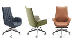 Stellar Mid Back Leather Chairs