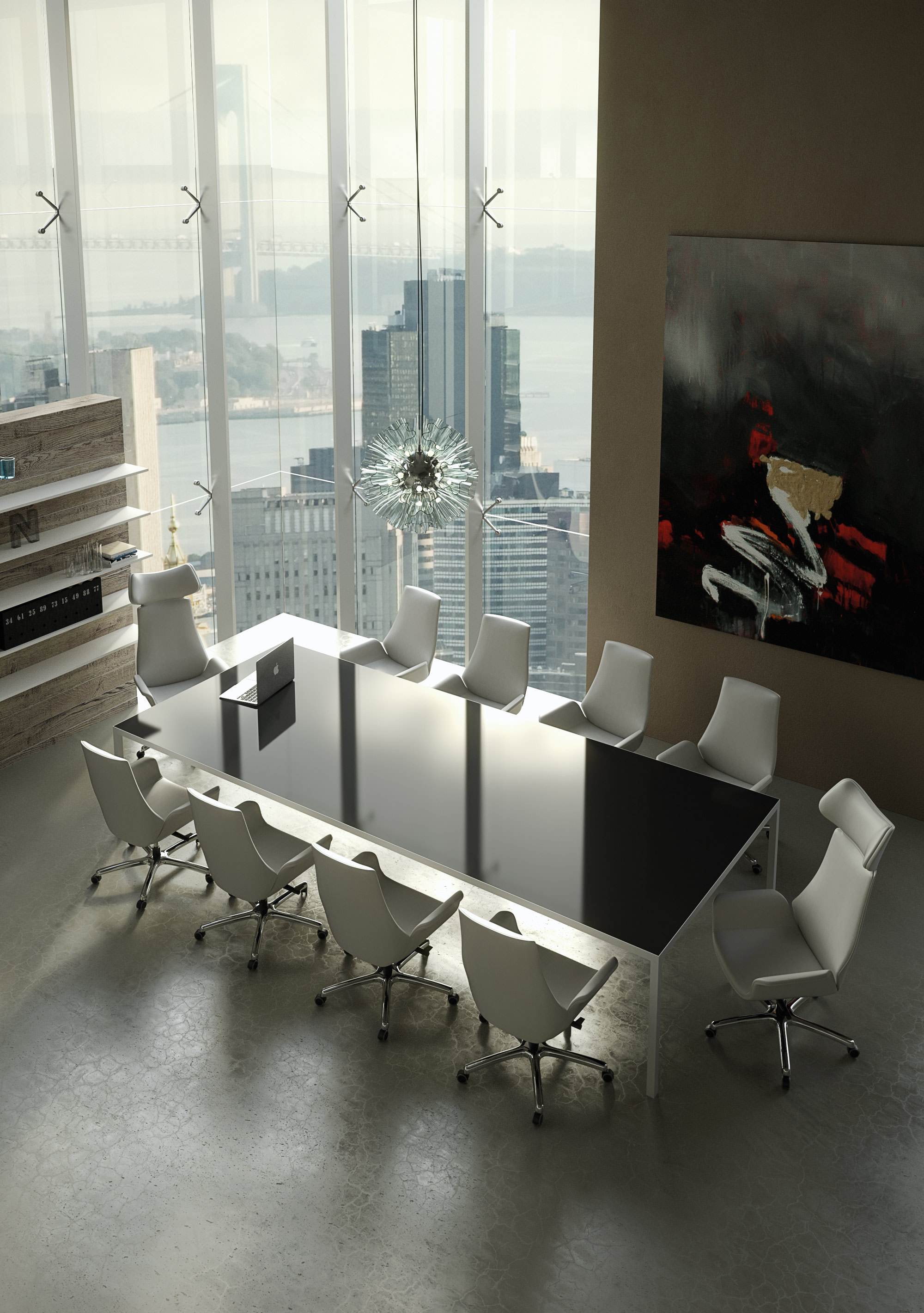 Stellar White Contemporary Conference Chairs