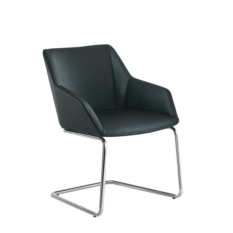 modern chrome executive pull up side chair for office and home