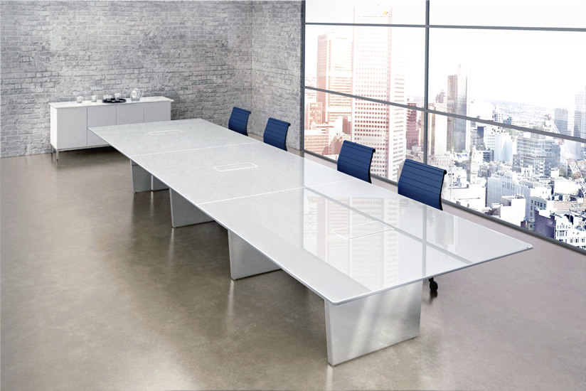 Tremendous Large Glass Steel Conference Table Ambience Dore Beutiful Home Inspiration Xortanetmahrainfo
