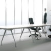 White Modern Large Conference Table