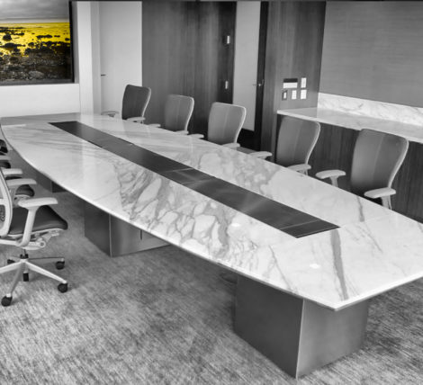 luxury marble stone executive boardroom table