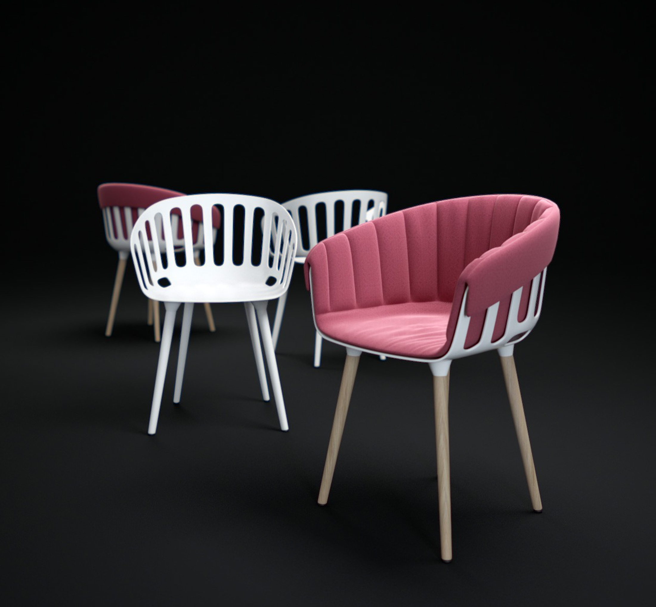 Ribbed Shadow Side Chair