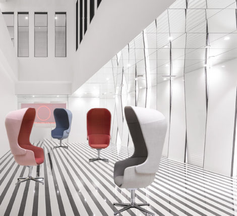 uber cool Metro Mod Pod Chair for social work office space and lobbies