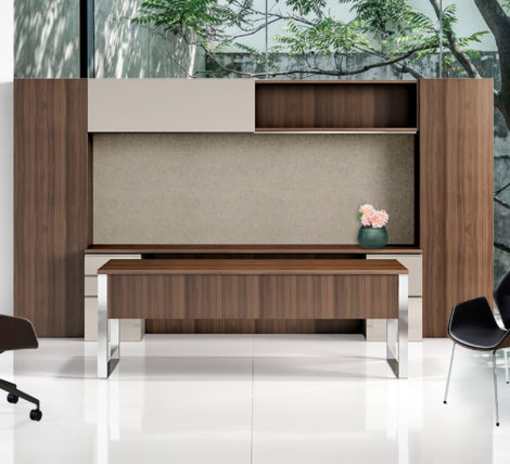 Extreme luxury modern executive wood metal desk suite for home and office