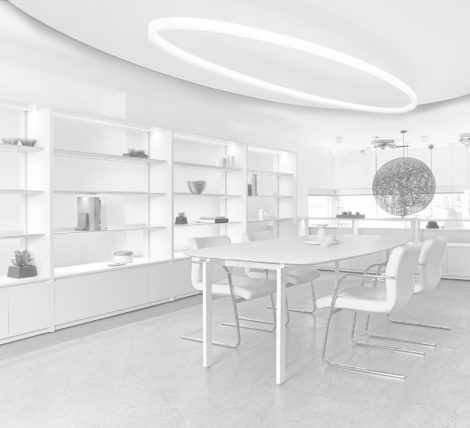 Stunning Modern Clean Lines All White Think Tank Station
